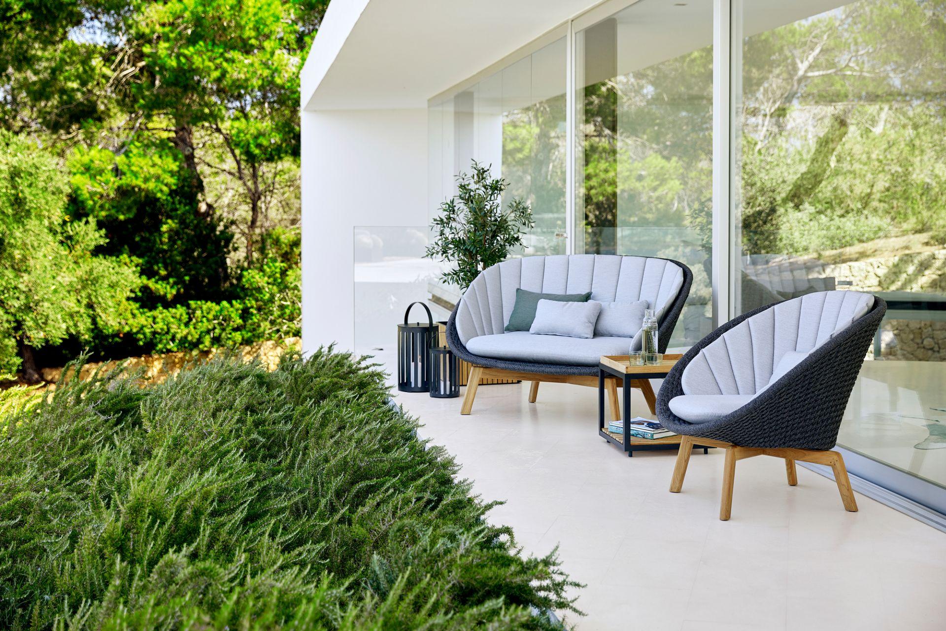 Peacock Outdoor Kissensatz für 2-Sitzer Sofa Cane-Line hellgrau