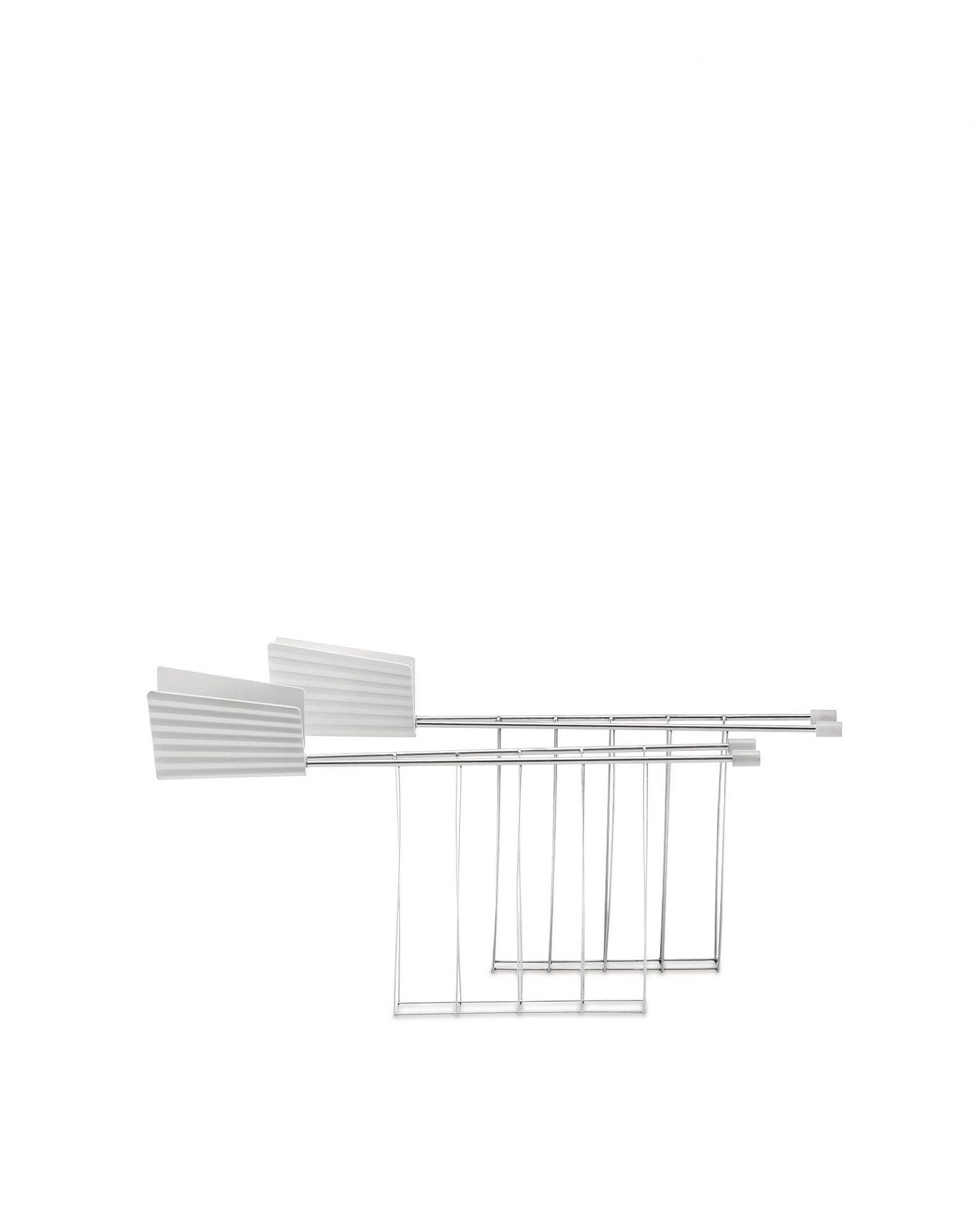 MDL08RACK Plissé Toasterzangen 2er-Set Alessi