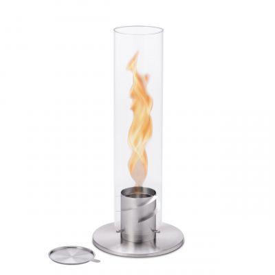 Spin 120 Windlicht/Tischfeuer silber höfats