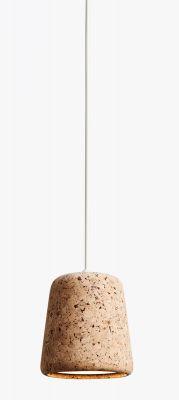 Material Pendant Pendelleuchte Kork New Works-Cork natur / weiß