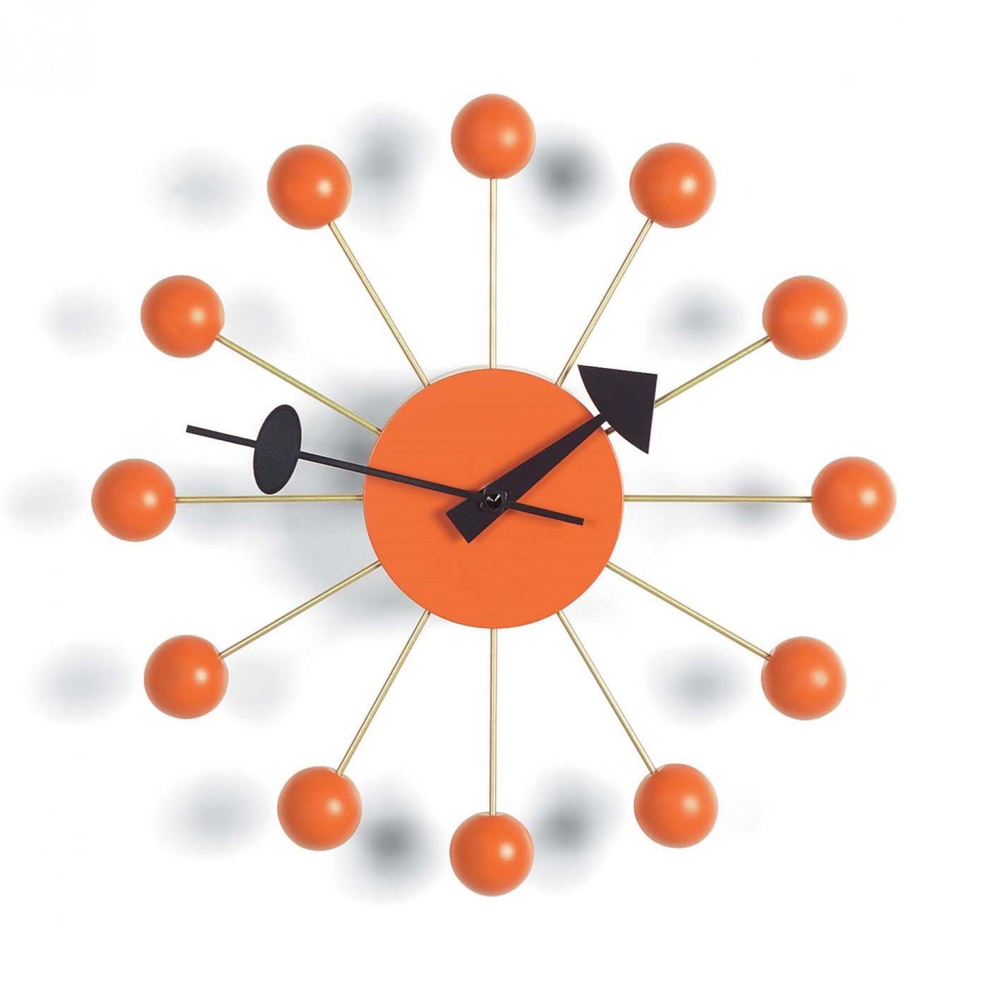 Ball Clock Wanduhr - orange Vitra