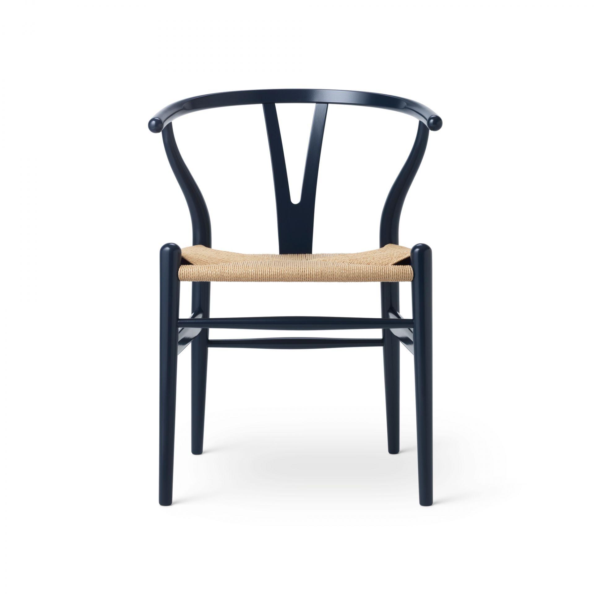 CH24 Wishbone Chair Russet & Blues Russet Red Carl Hansen & Søn