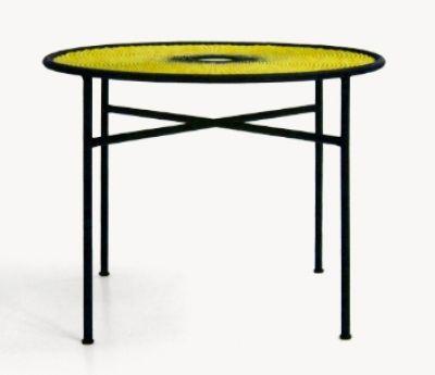 Banjooli Tisch M' Afrique Collection Moroso-Gelb / Schwarz