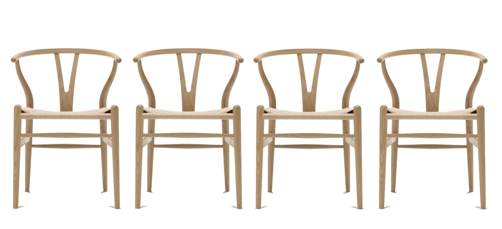 CH24 Wishbone Chair / Y-Chair Stuhl Eiche geseift 4-er Set Carl Hansen & Søn