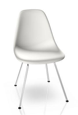 Eames Plastic Side Chair DSX Stuhl Vitra Chrom - Weiss