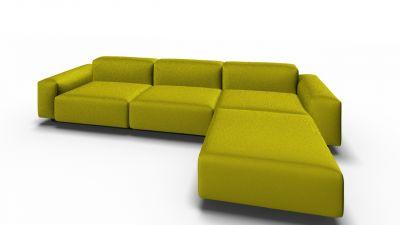 Soft Modular Sofa 3-Sitzer mit Chaise Longue Vitra