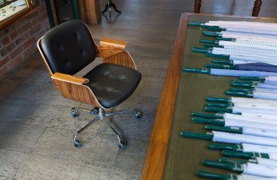 D49 Leder Schreibtischstuhl Tecta