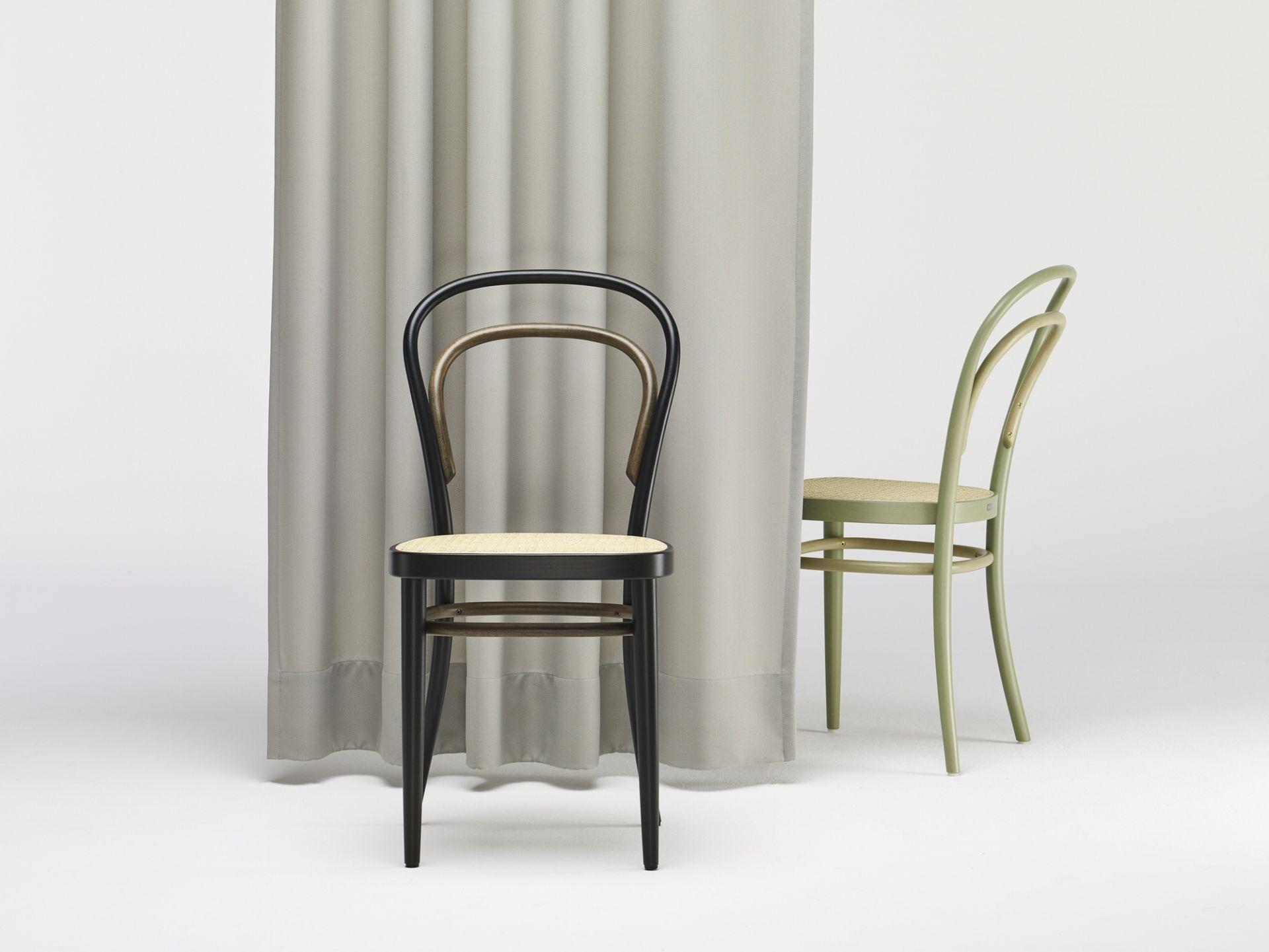 214 Two-Tone Kaffeehausstuhl Thonet Weiß