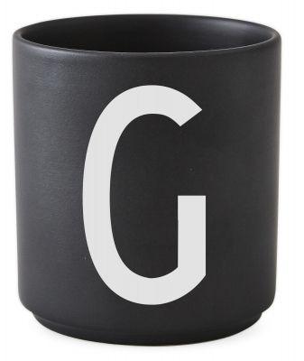 Buchstabenbecher Schwarz Design Letters-G