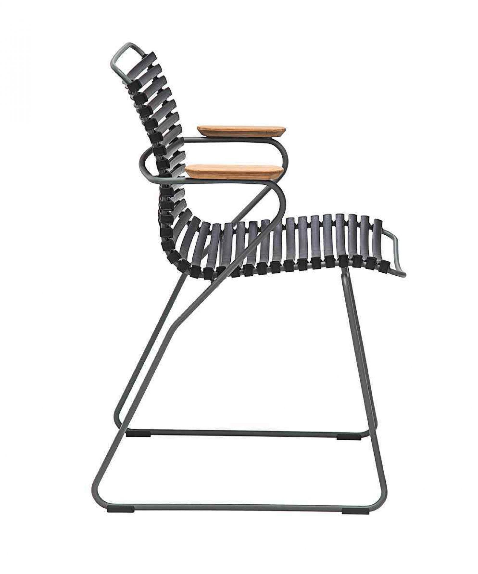 Click Stuhl mit Armlehne pflaume Houe