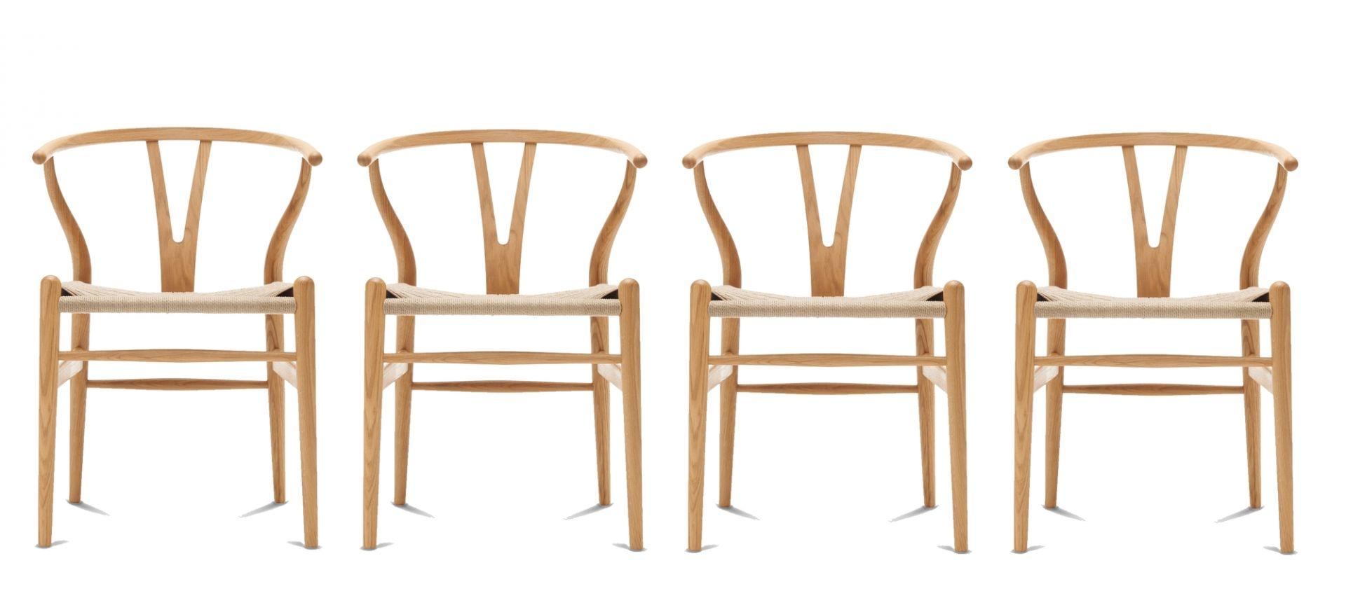CH24 Wishbone Chair / Y-Chair Stuhl Eiche geölt 4-er Set Carl Hansen & Søn