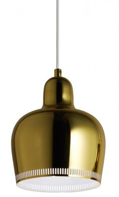 A330S Golden Bell Pendant light Pendelleuchte Artek Messing-Weiss
