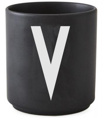 Buchstabenbecher Schwarz Design Letters-V