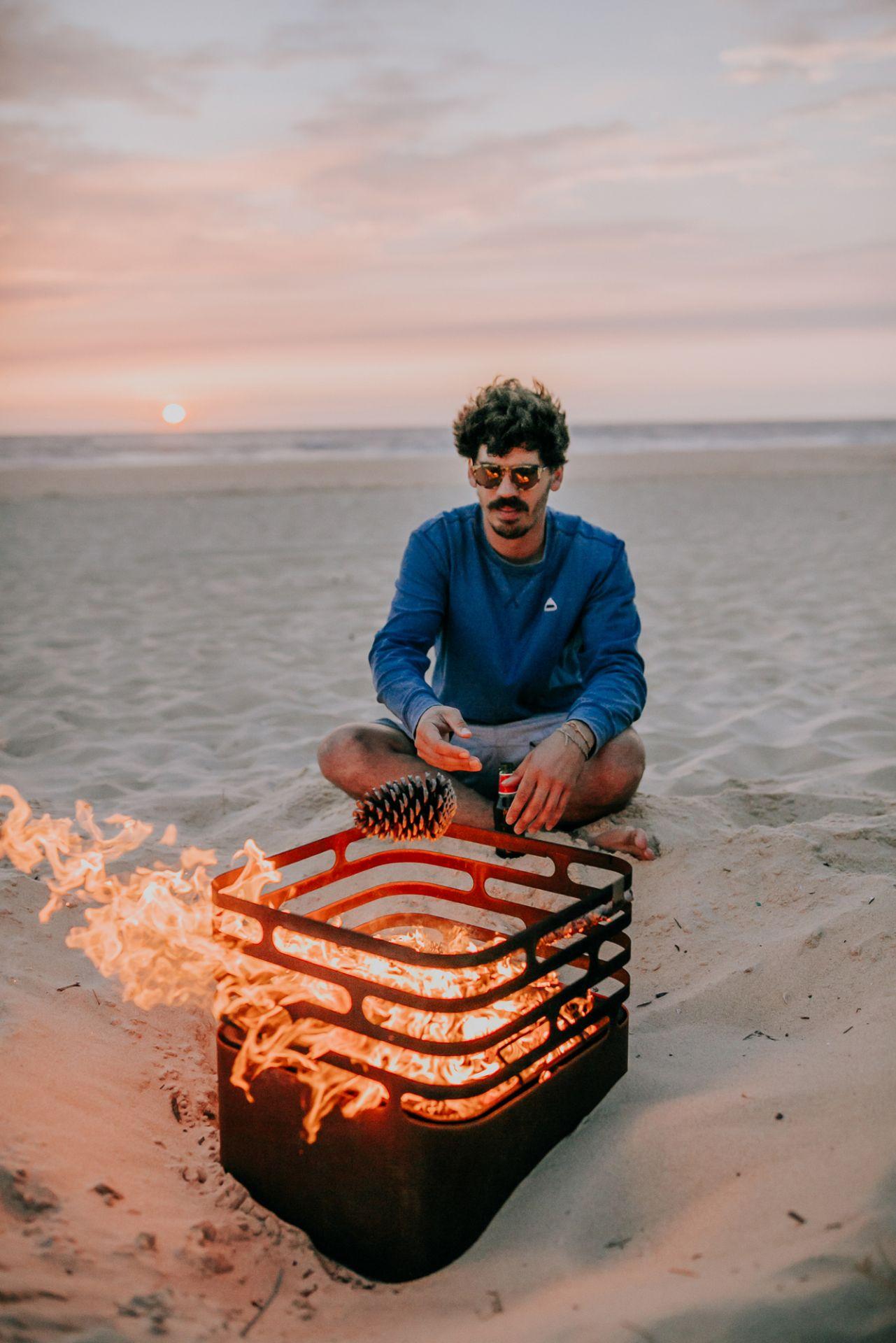 Cube Feuerkorb rostig höfats