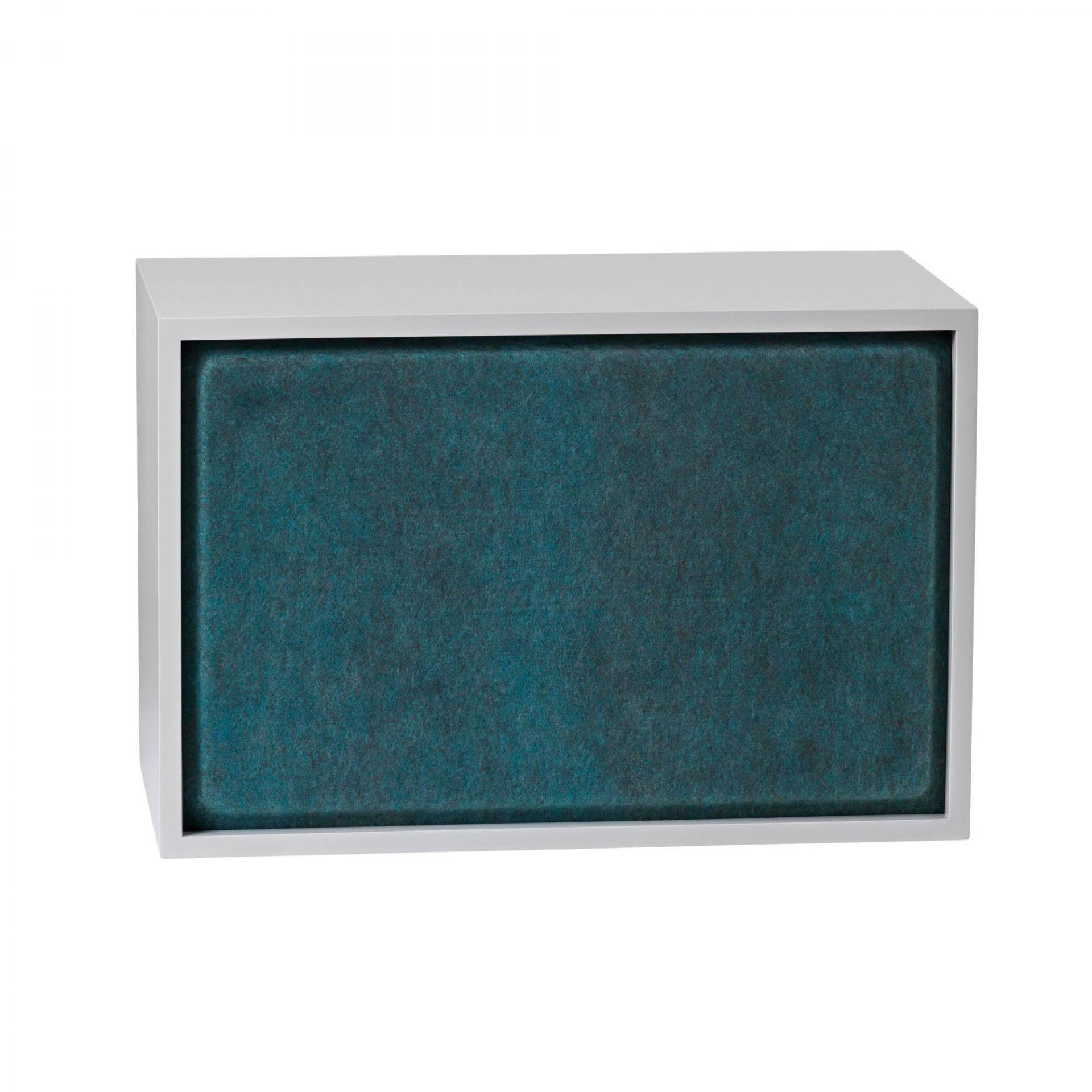 Acoustic Panel für Stacked Regalsystem groß Muuto-Grau melange