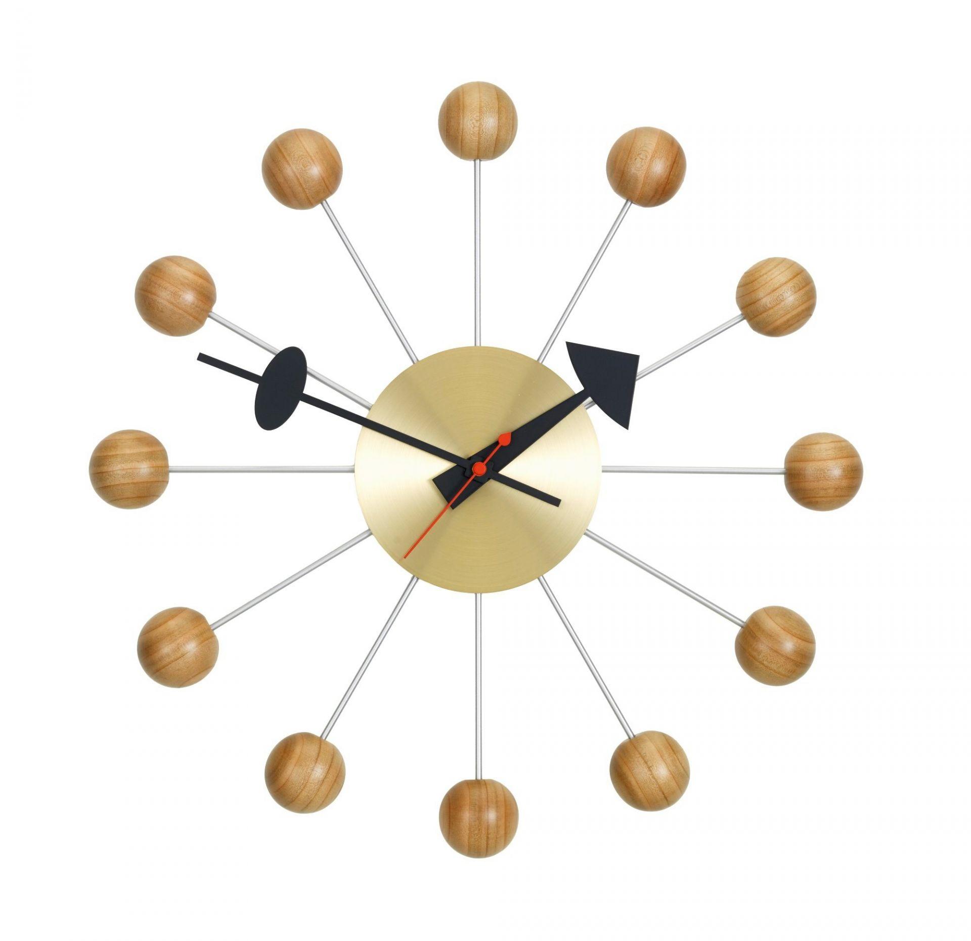 Ball Clock Wanduhr Kirschbaumholz Vitra