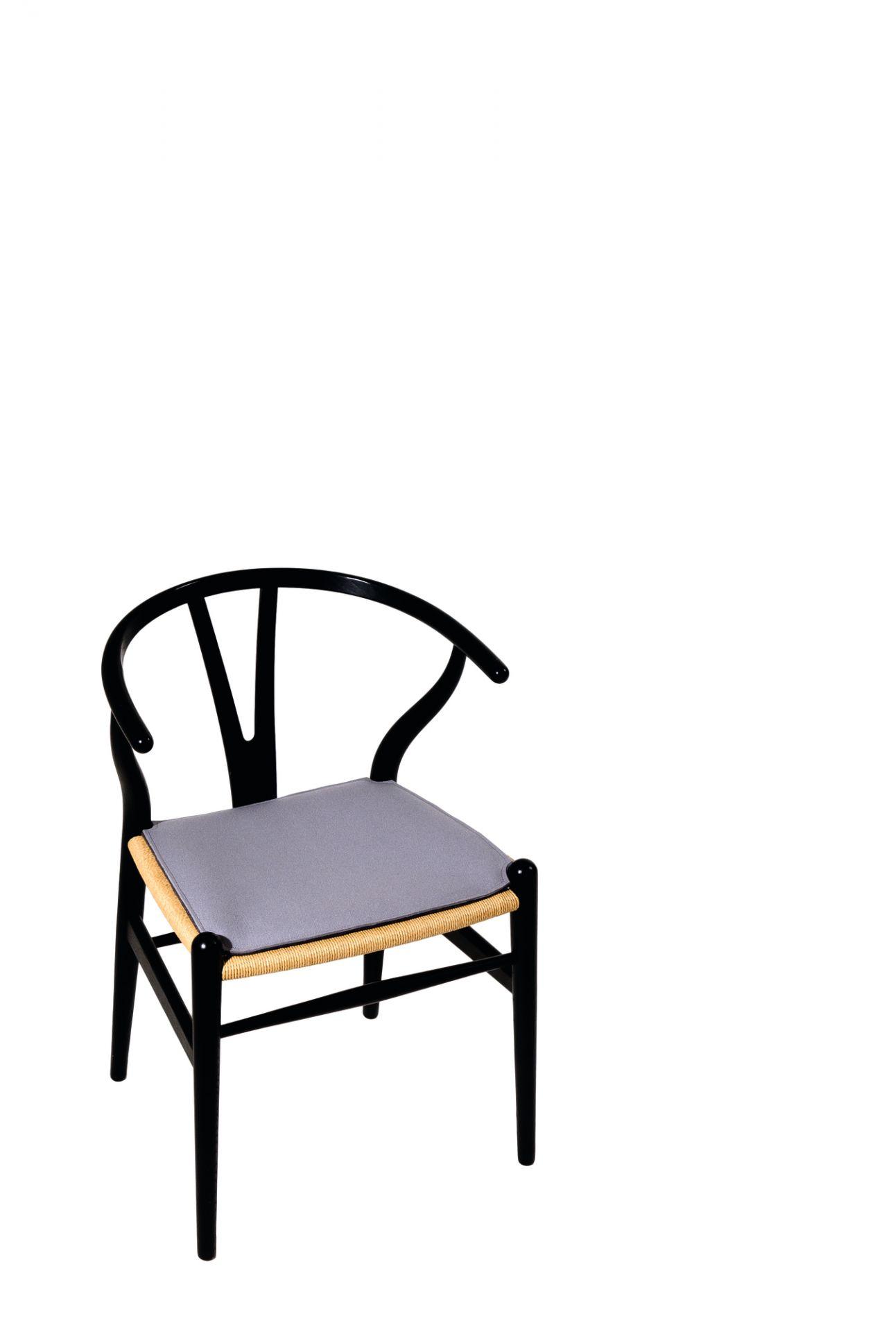 Sitzauflage - Filzauflage Wishbone Chair Parkhaus Berlin Pastell rosa
