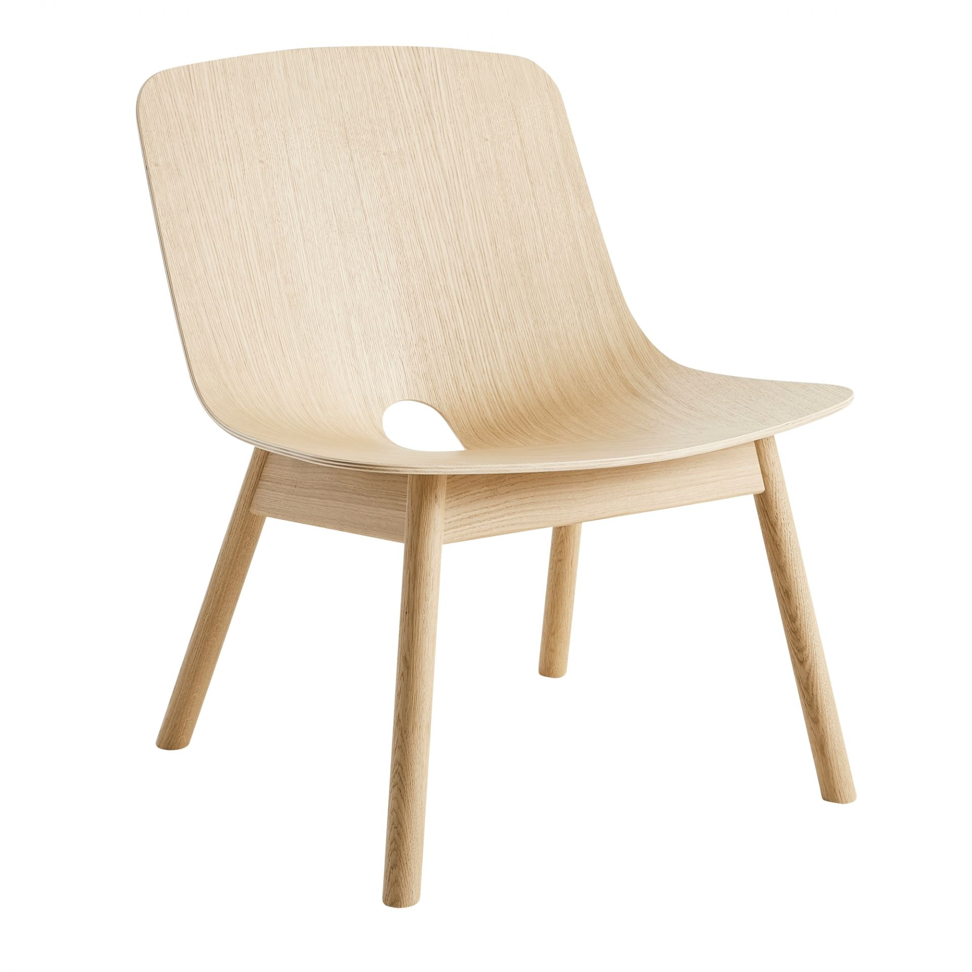 Mono Lounge Chair Stuhl Woud Eiche Schwarz